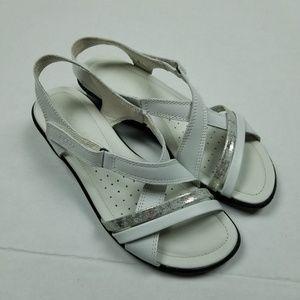 NEW Ecco White Strappy Sandals Sz 38 NWOT